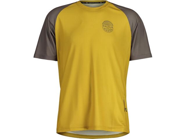 Maloja StachelbeereM. Multi Short Sleeve Multisport Jersey Men, amarillo/gris